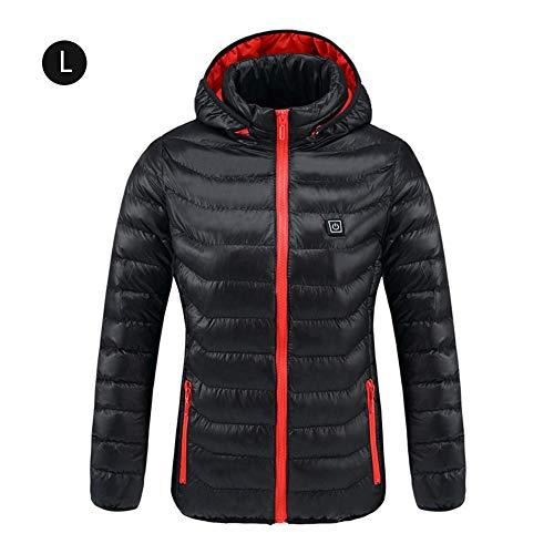 AITOCO Manteau Veste chauffante électrique Intelligent, Manteau d'hiver Chaud pour Le Chauffage par température Rechargeable USB pour Le vélo/Ski / Moto/pêche sur Glace/randonnée en Plein air