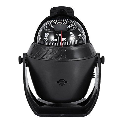 Alomejor lumière de Haute précision pivotant Boussole, Compas électronique de Navigation pour LED Marine Bateau de Voiture